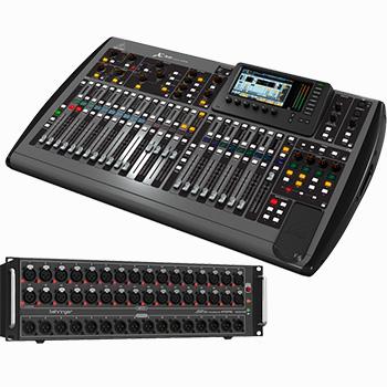 SLF audio verhuur Behringer X32 met S32
